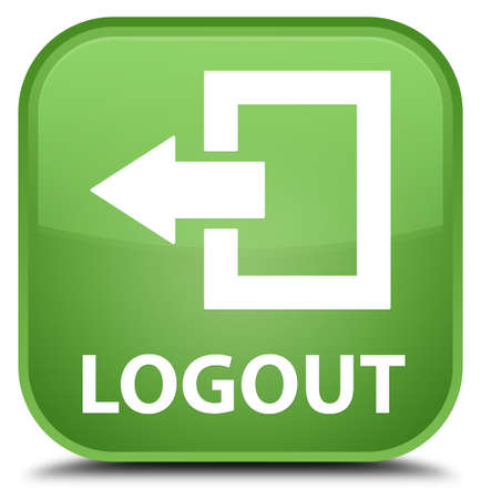 shut off: Logout soft green square button