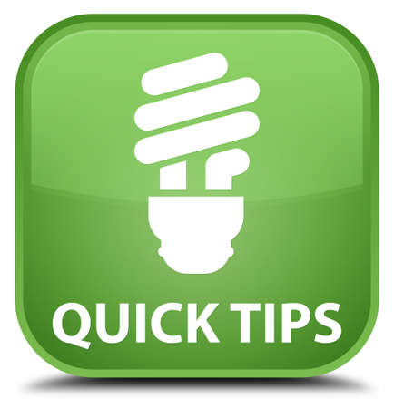 hints: Quick tips (bulb icon) soft green square button