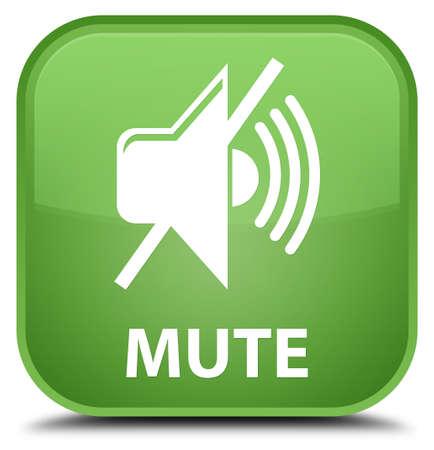 mute: Mute soft green square button