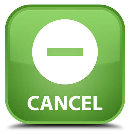 cancel: Cancel soft green square button