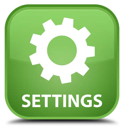 control tools: Settings soft green square button