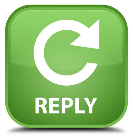rotate: Reply (rotate arrow icon) soft green square button