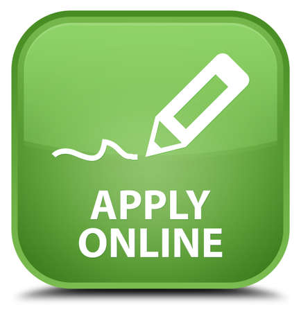 apply: Apply online (edit pen icon) soft green square button
