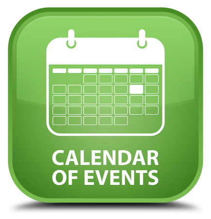 appointments: Calendar of events soft green square button