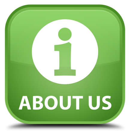 about us: About us soft green square button