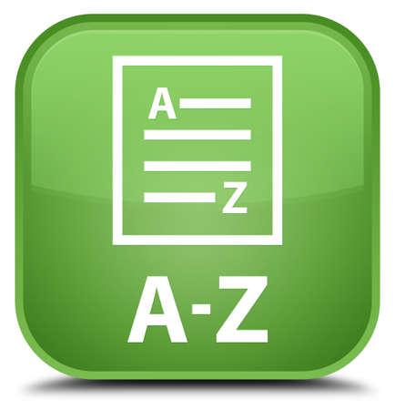 az: A-Z (list page icon) soft green square button