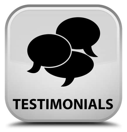 comments: Testimonials (comments icon) white square button