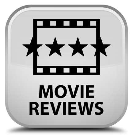 reviews: Movie reviews white square button