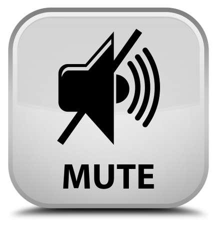 beep: Mute white square button Stock Photo