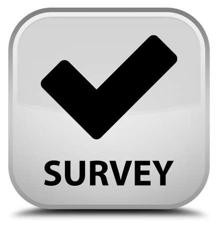 validate: Survey (validate icon) white square button