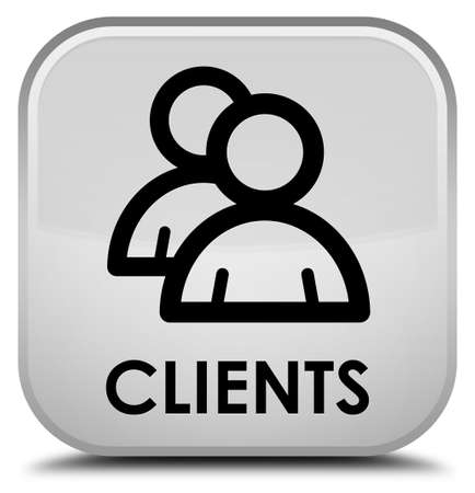 Clients (group icon) white square button