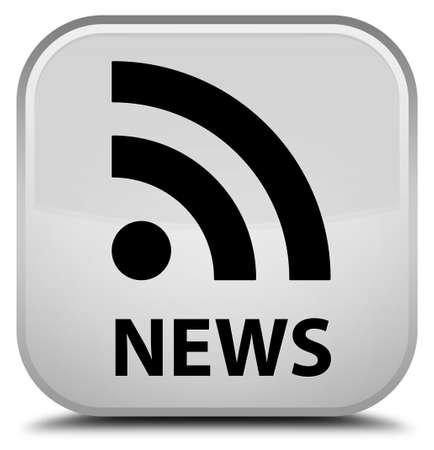 rss icon: News (RSS icon) white square button