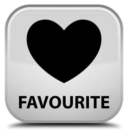 the favourite: Favourite (heart icon) white square button
