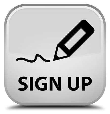 registry: Sign up white square button