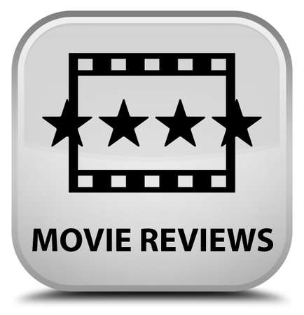 ratings: Movie reviews white square button