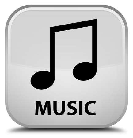 tune: Music (tune icon) white square button
