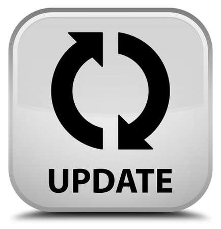 update: Update white square button