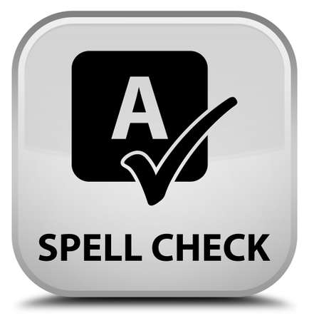 spell: Spell check white square button
