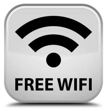botón cuadrado blanco wifi gratuito