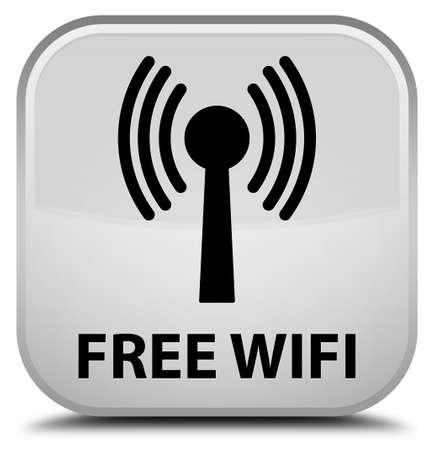 wlan: Free wifi (wlan network) white square button
