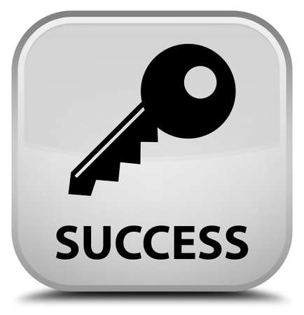 success key: Success (key icon) white square button