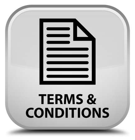 conditions: Terms and conditions (page icon) white square button