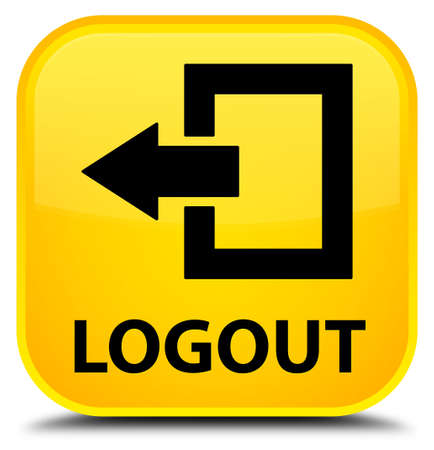 square: Logout yellow square button