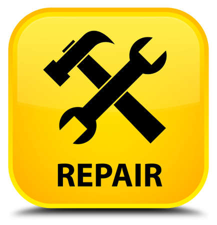 preference: Repair (tools icon) yellow square button