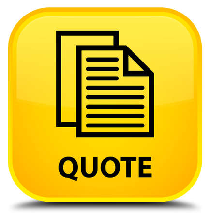 yellow pages: Quote (document pages icon) yellow square button