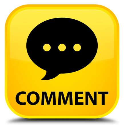 comment: Comment (conversation icon) yellow square button