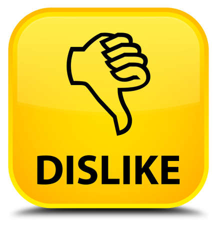 disapprove: Dislike yellow square button