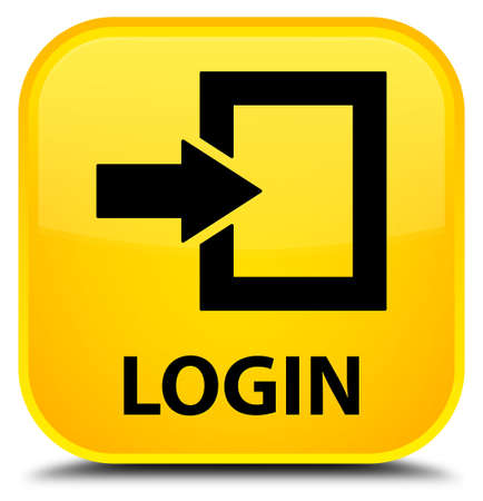 secure site: Login yellow square button