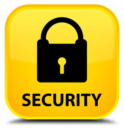 insecure: Security (padlock icon) yellow square button