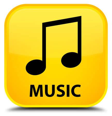 tune: Music (tune icon) yellow square button