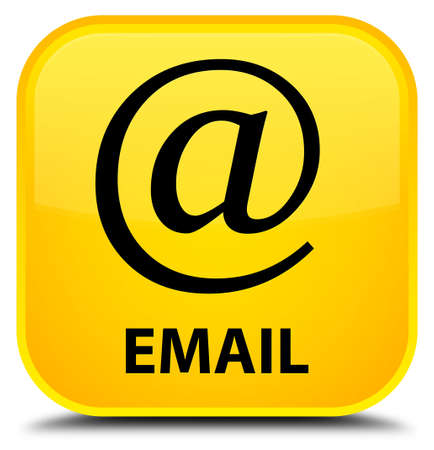 email address: Email (address icon) yellow square button Stock Photo