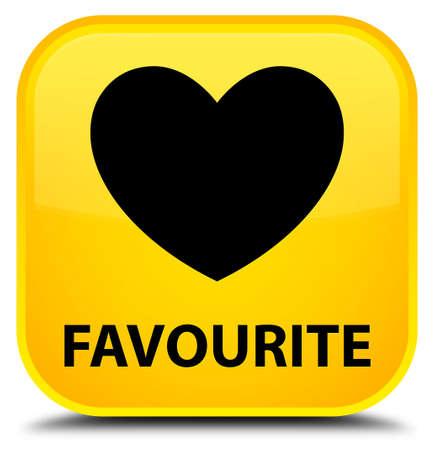 the favourite: Favourite (heart icon) yellow square button