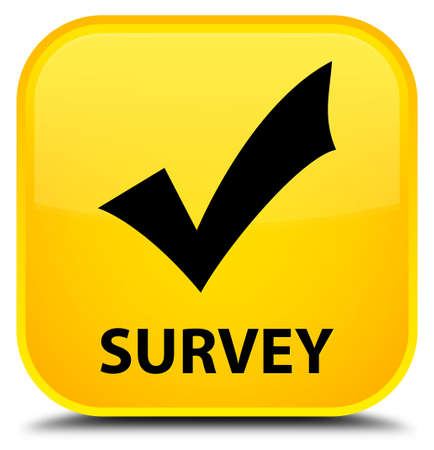 validate: Survey (validate icon) yellow square button