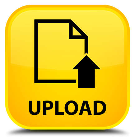 document icon: Upload (document icon) yellow square button