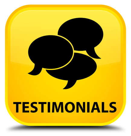 comments: Testimonials (comments icon) yellow square button