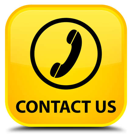phone button: Contact us (phone icon round border) yellow square button
