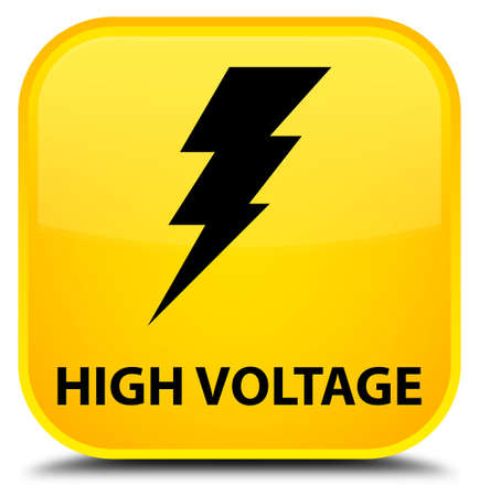 voltage: High voltage (electricity icon) yellow square button