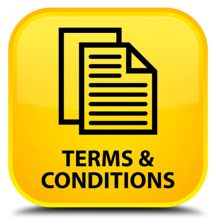 term and conditions: Terms and conditions (pages icon) yellow square button