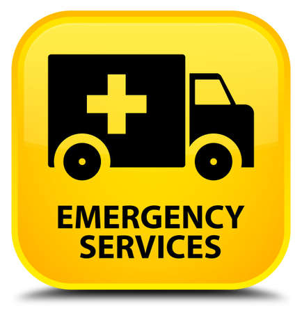 emergency services: Emergency services yellow square button