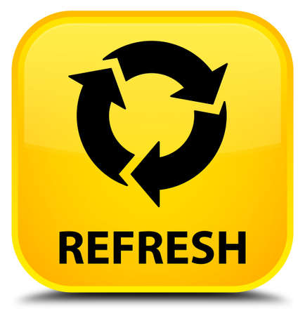 recycle icon: Refresh yellow square button