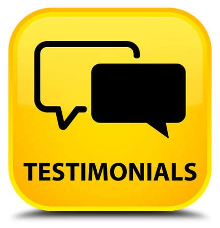 authenticate: Testimonials yellow square button