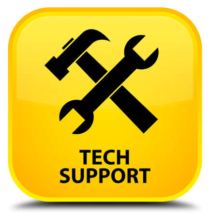 tech support: Tech support (tools icon) yellow square button
