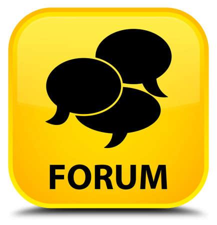 comments: Forum (comments icon) yellow square button