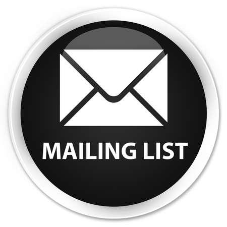 flysheet: Mailing list black glossy round button