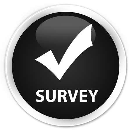validate: Survey (validate icon) black glossy round button