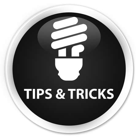 incandescence: Tips and tricks (bulb icon) black glossy round button